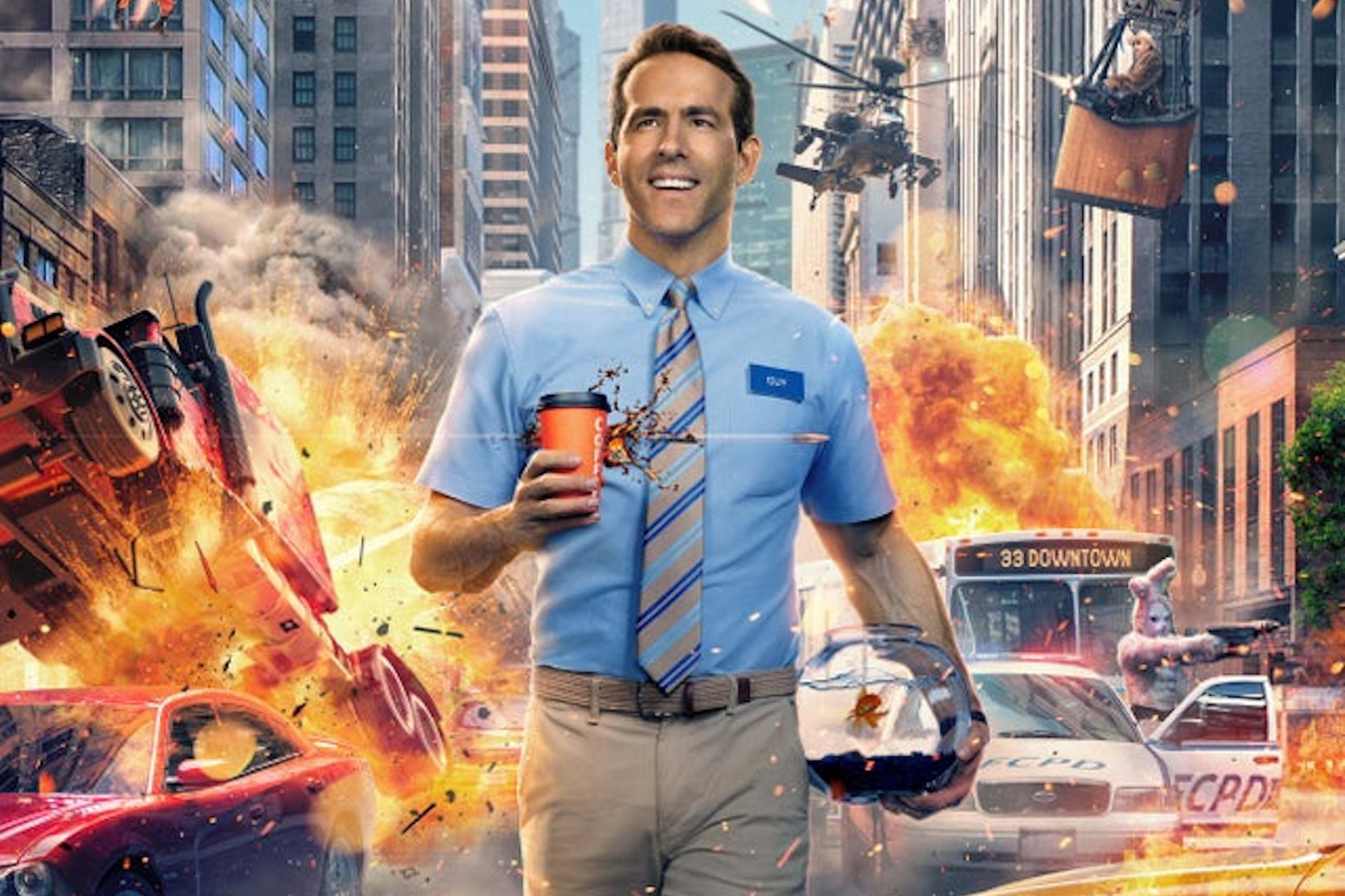 Watch Ryan Reynolds go for the dub in the 'Free Guy' trailer